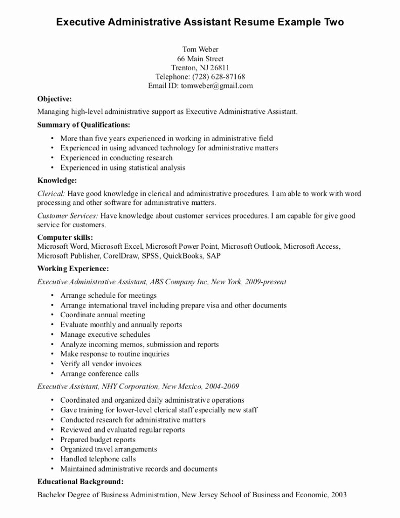Entry Level Administrative assistant Resume Paralegal