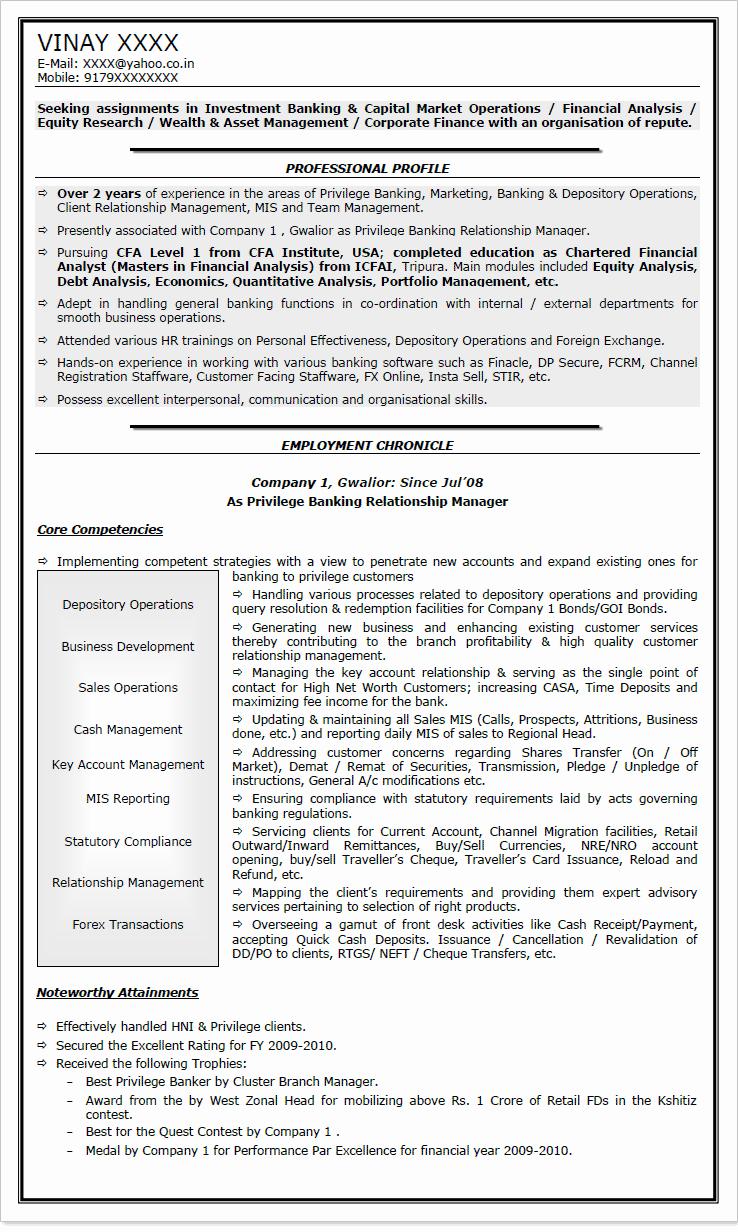 Entry Level Banking Resume Samples