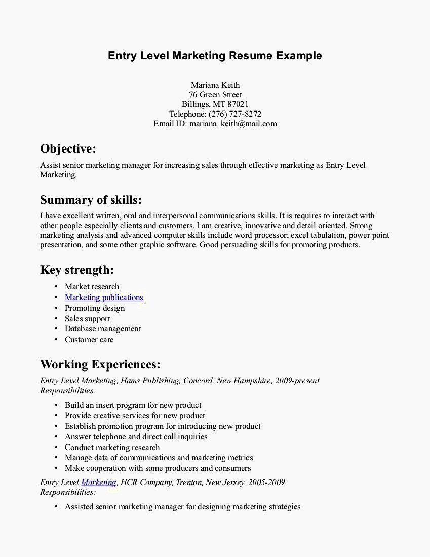 Entry Level Clerical Resume Samples