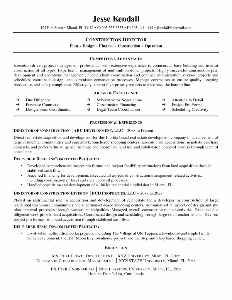 Entry Level Construction Worker Resume Samples General
