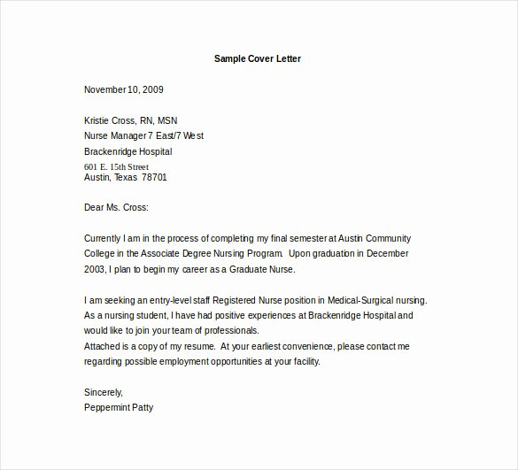 Entry Level Cover Letter Template – 10 Free Pdf Documents