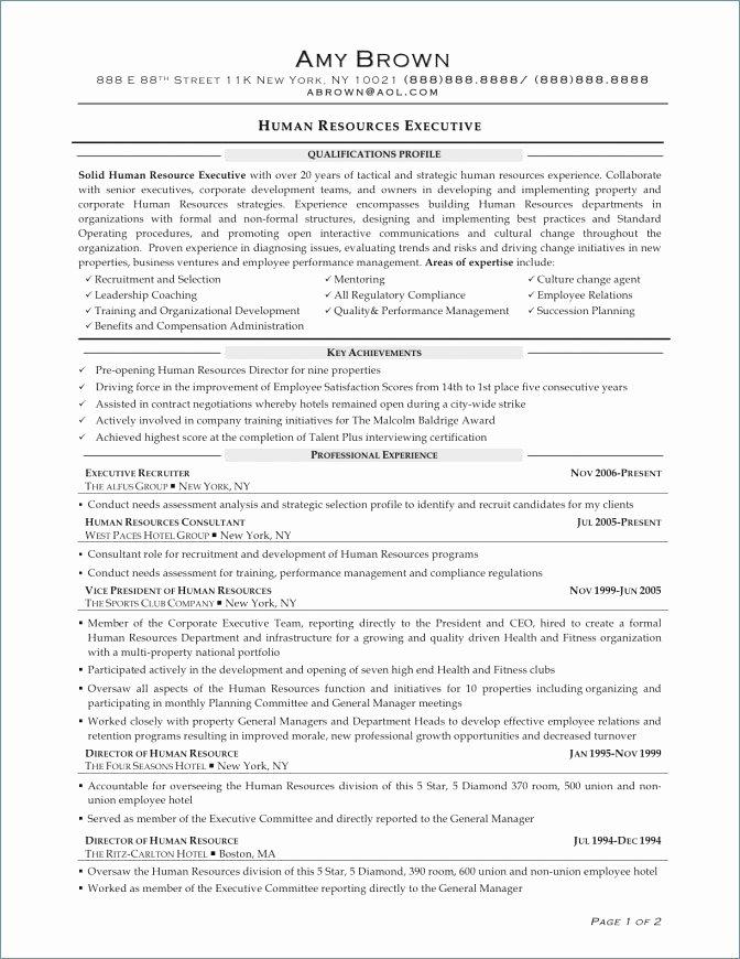 Entry Level Hr Resume Unique Entry Level Resume Objective
