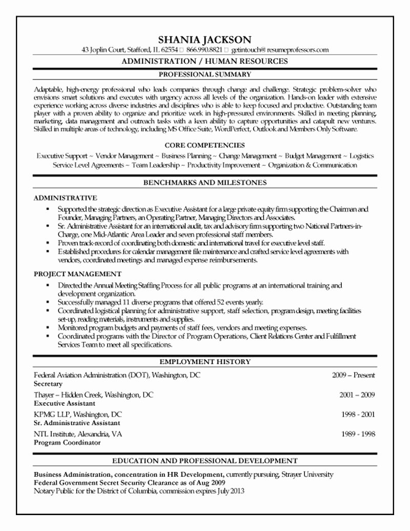 Entry Level Human Resources Resume Tjfs Journal