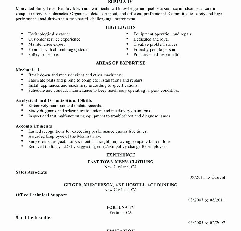 Entry Level Hvac Resume Sample Keralapscgov