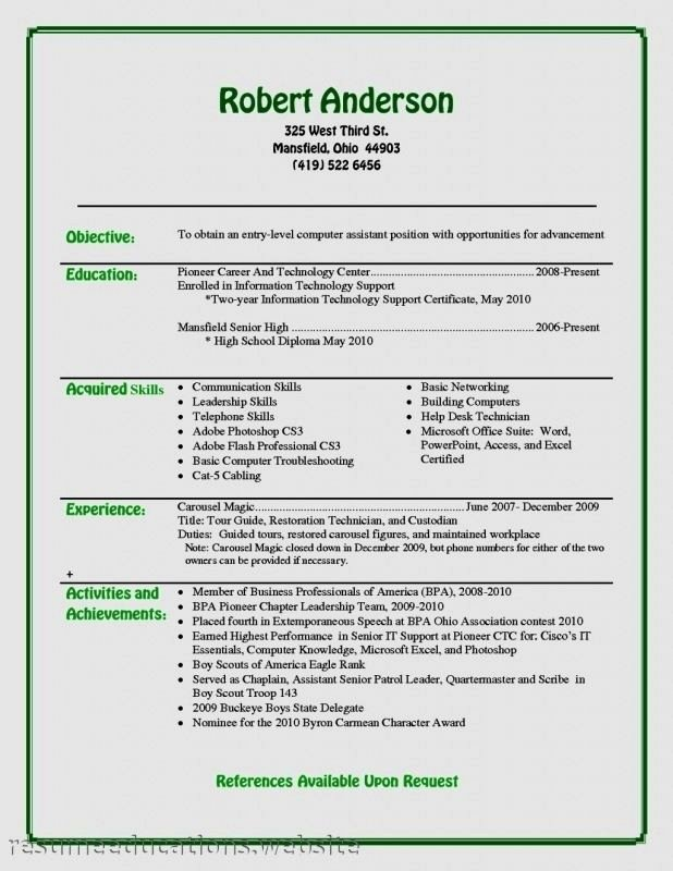 Entry Level Information Technology Resume