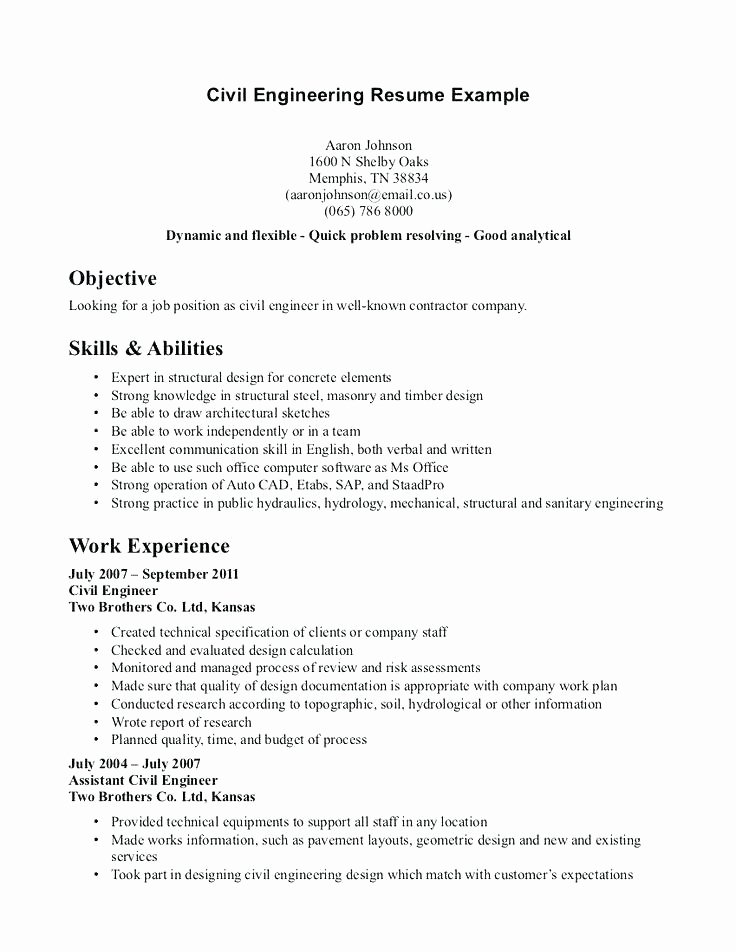 Entry Level Mechanical Design Engineer Resume Mechanical