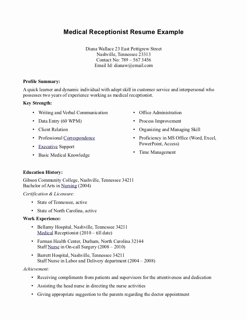 Entry Level Medical assistant Resume Examples Objectives