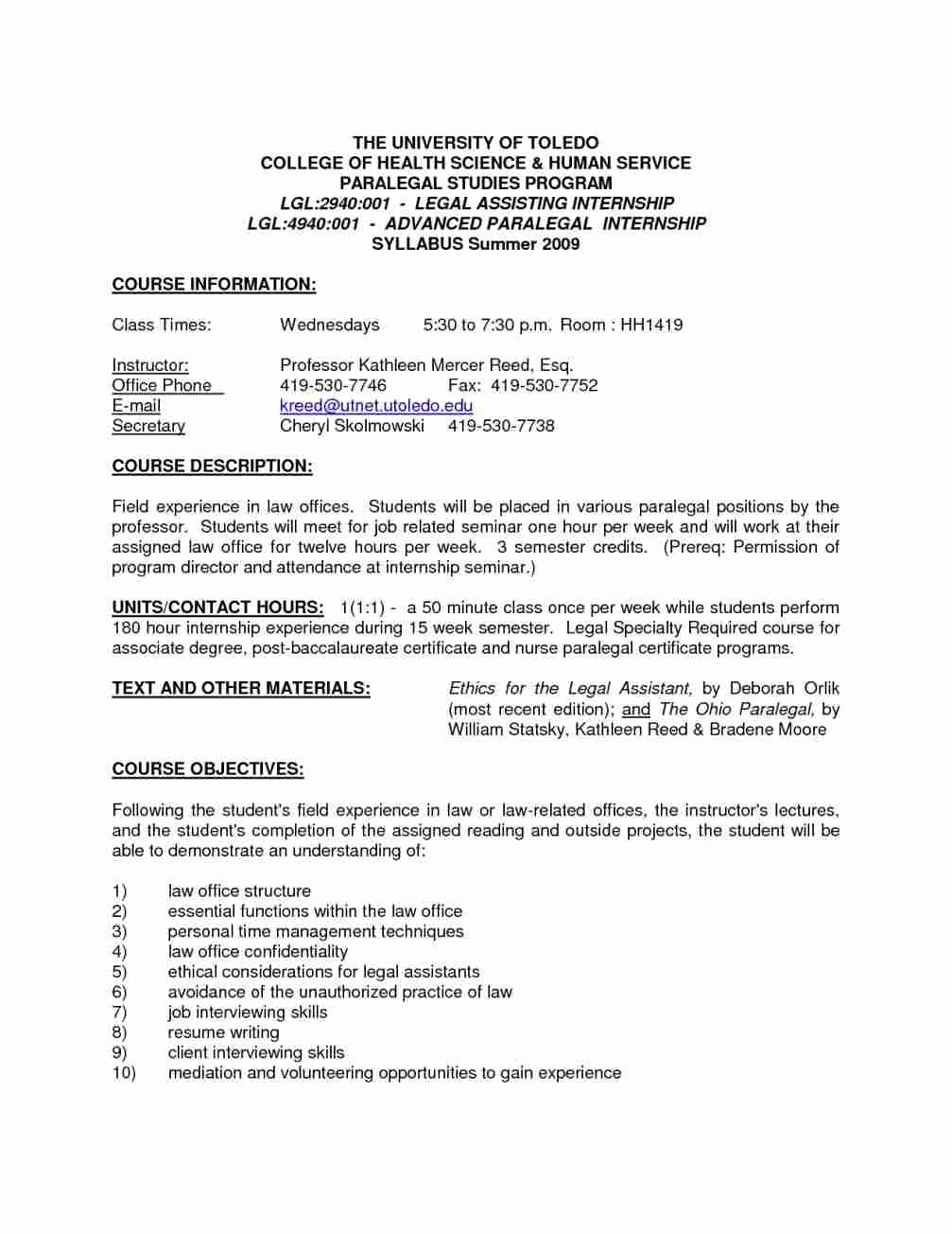 Entry Level Paralegal Cover Letter No Experience Latter Example