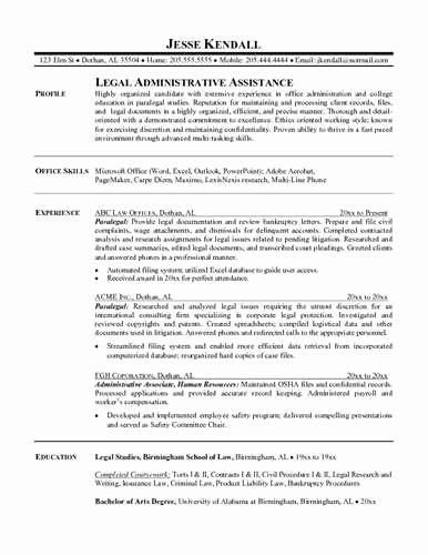 Entry Level Paralegal Resume Objective Statement