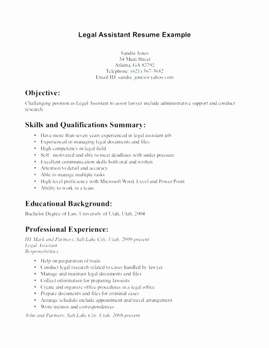 Entry Level Paralegal Resume Samples – Resume Tutorial