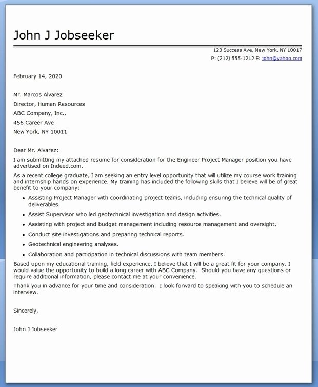 Entry Level Project Administrator Cover Letter