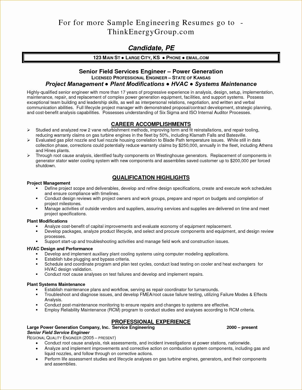 Entry Level Qa Resume Sample Beautiful Download Electrical