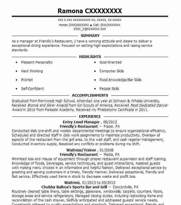 Entry Level Radio Personality Resume