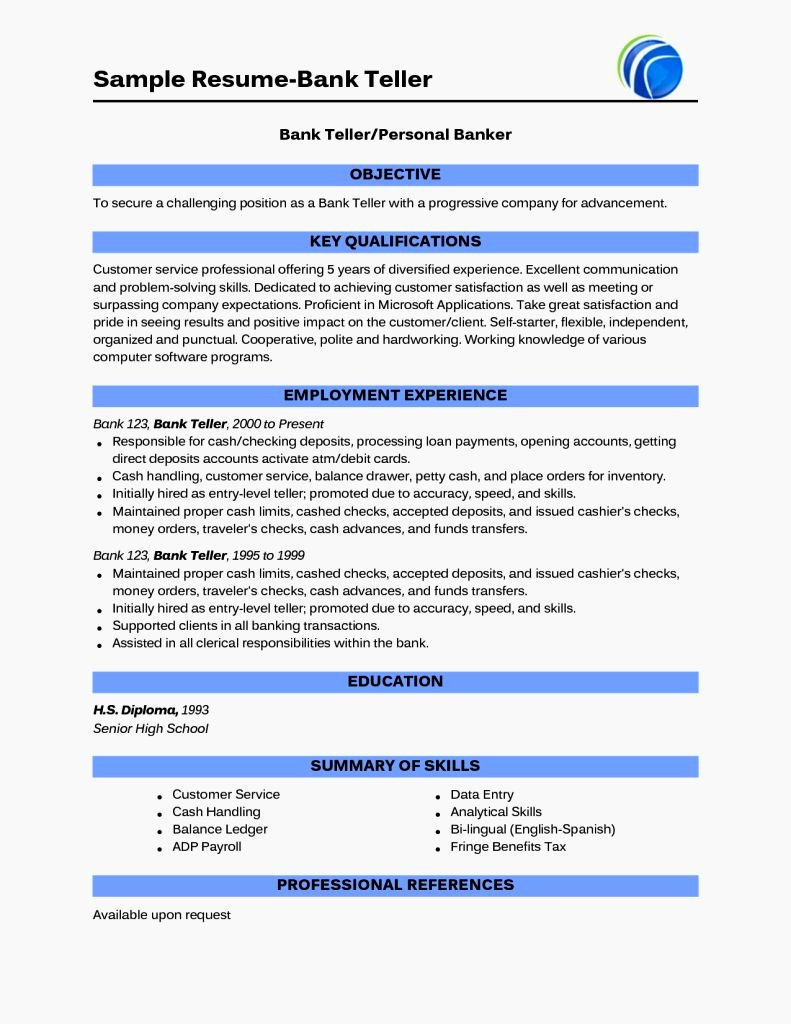 Entry Level Resume No Experience Sample