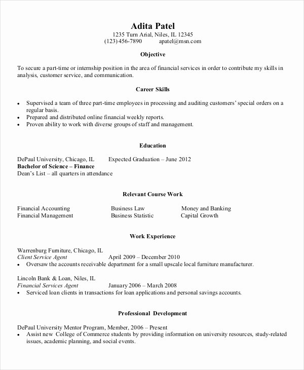 Entry Level Resume Template