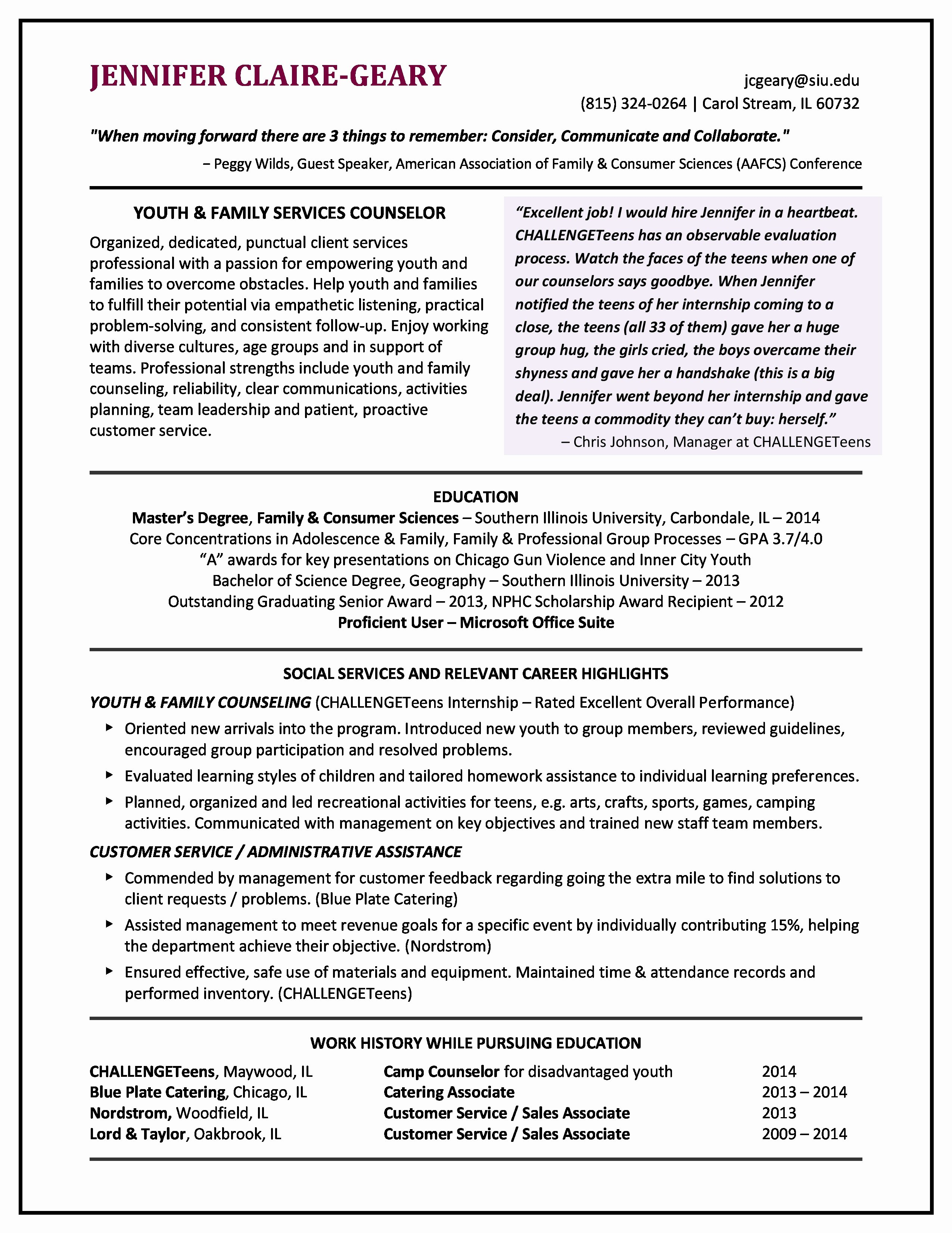 Entry Level social Worker Cover Letter Examples