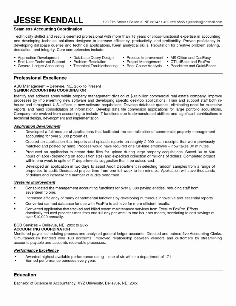 Entry Level Staff Accountant Resume Examples Senior format