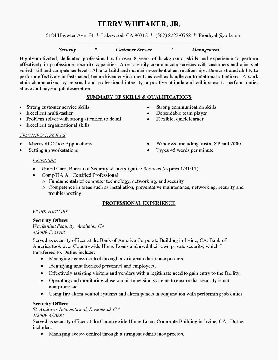 Entry Level Warehouse Resume Examples