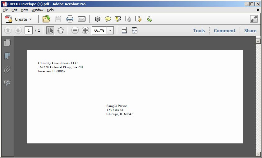 Envelope Address Printing Template Templates Resume