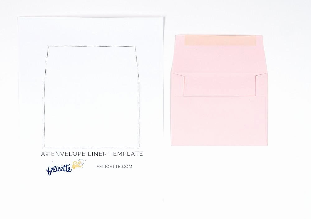 Envelope Liner Template A7 Gallery Template Design Ideas