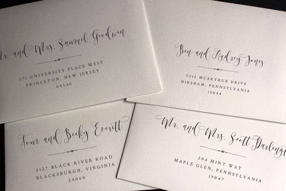 Envelope Template Envelope Address Template Wedding
