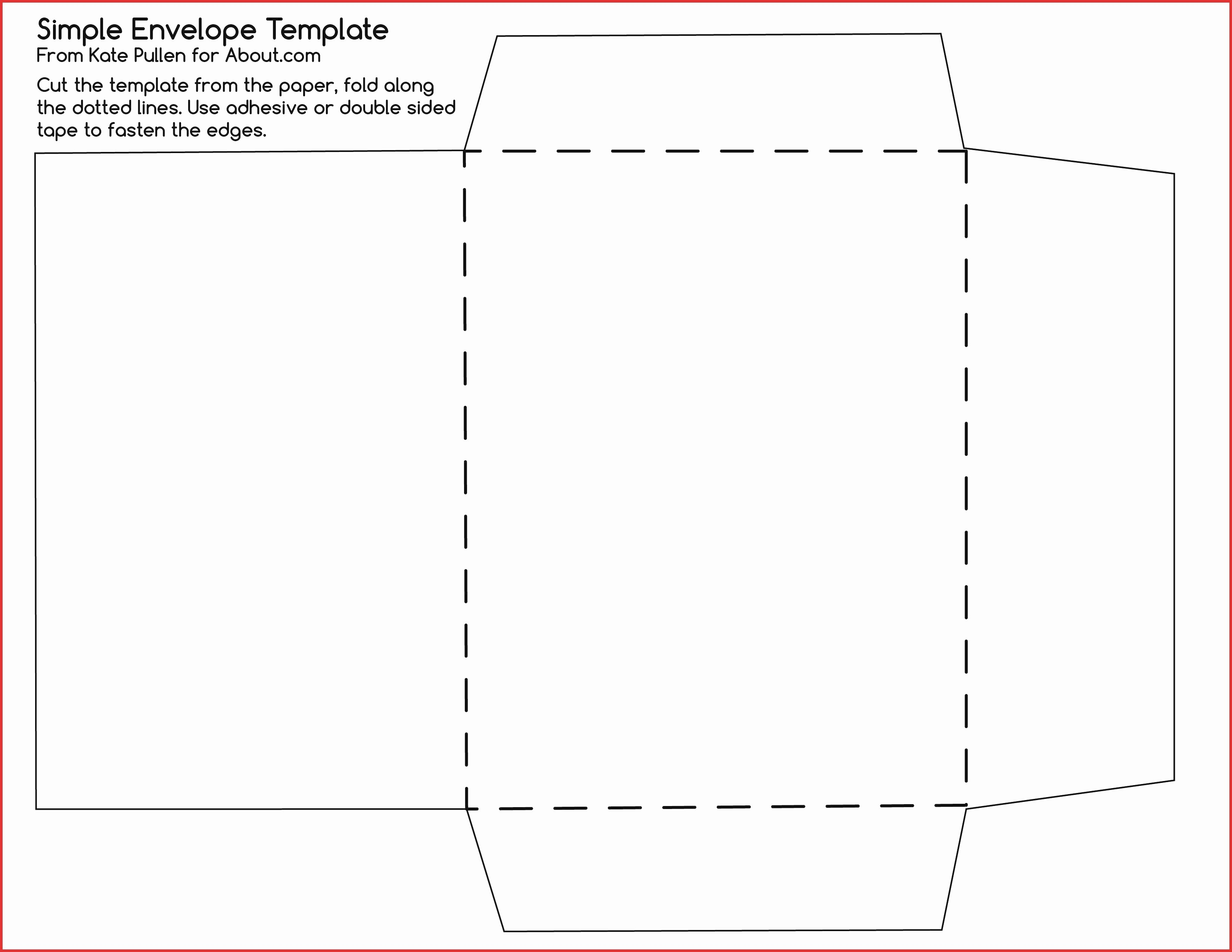 Envelope Template for 4×6 Card Beautiful Template Design