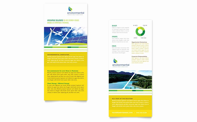 Environmental Conservation Rack Card Template Word