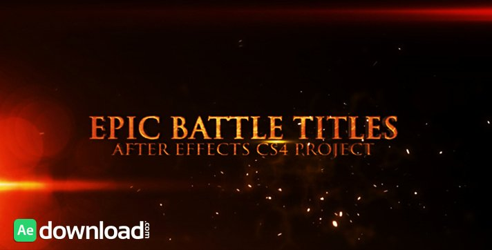 Epic Battle Titles after Effects Project Videohive
