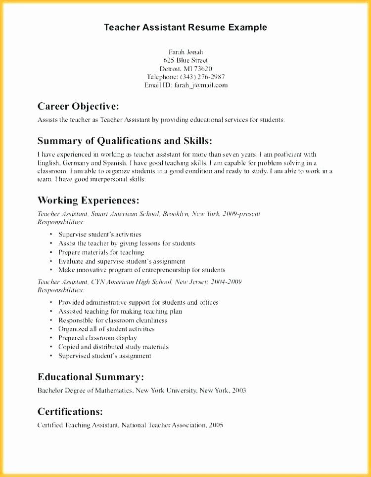 Esl Teacher Job Description Resume Caregiver Kindergarten