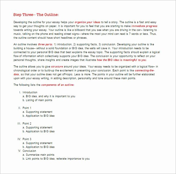 Essay Outline Templates 10 Free Word Pdf Samples