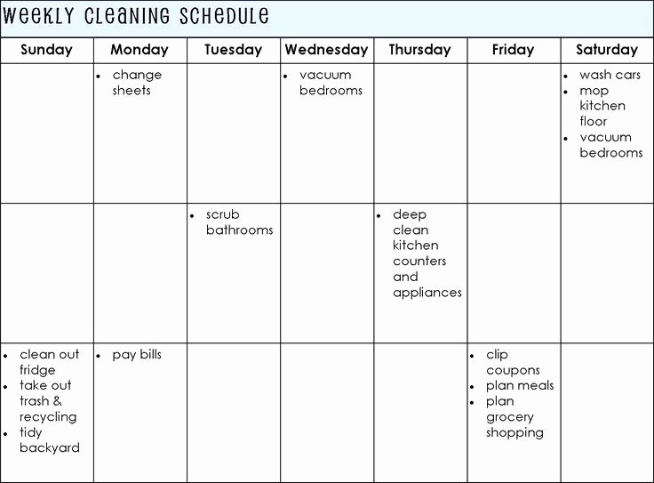 Establishing A Cleaning Schedule for Your Home