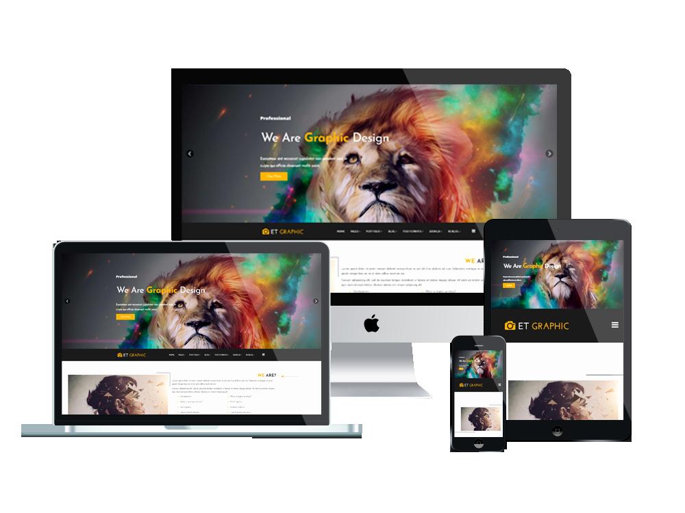 Et Graphic – Free Responsive Joomla Graphic Design Template