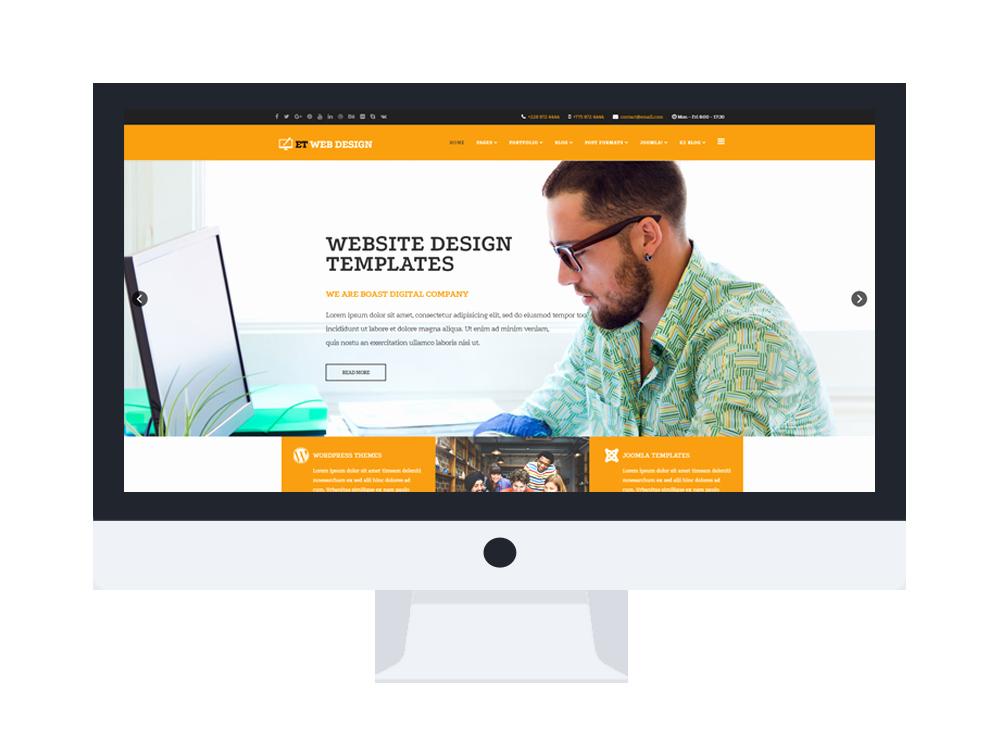 Et Web Design – Free Responsive Web Design Joomla Template