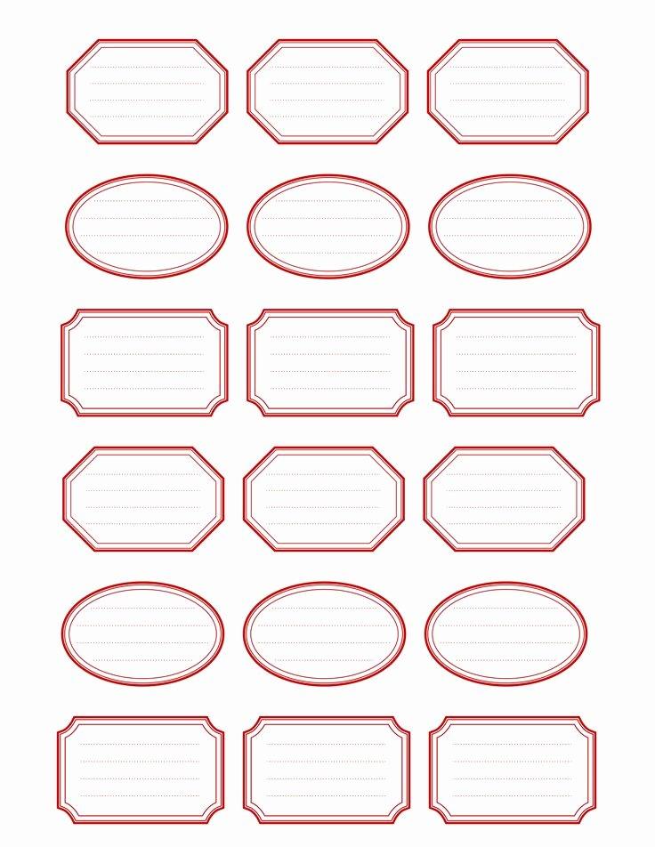 Etiquettes Imprimables