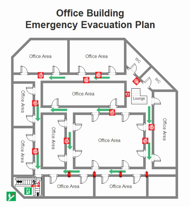 Evacuation Plan Template for Fice Templates Resume