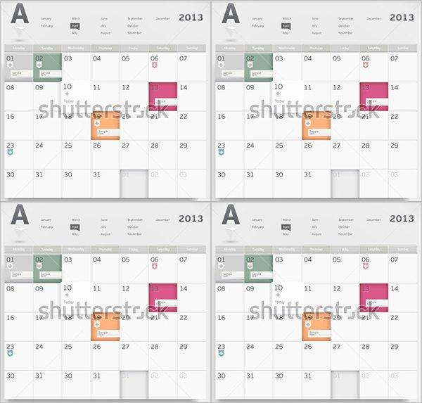 Event Calendar Templates 16 Free Download