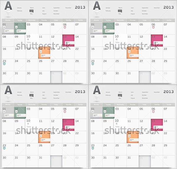 Event Calendar Templates 16 Free Download