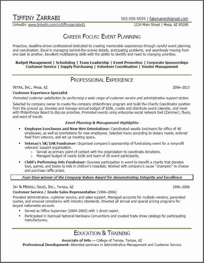 Event Coordinator Job Description Resume Lovely Special