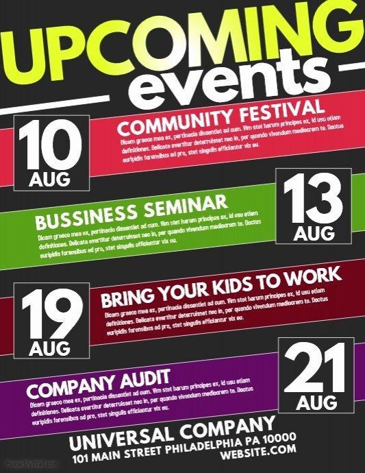 Event Flyer Templates Free Downloads