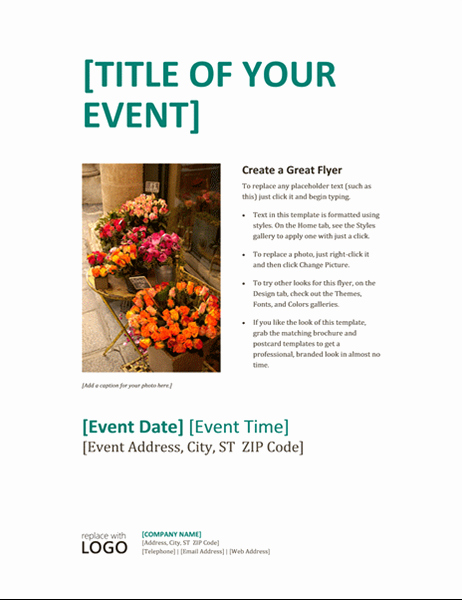 Event Flyer Templates Word Yourweek Bf26b5eca25e