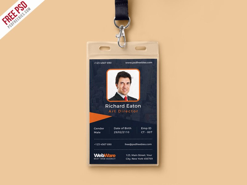 Event Id Card Template Beautiful Template Design Ideas