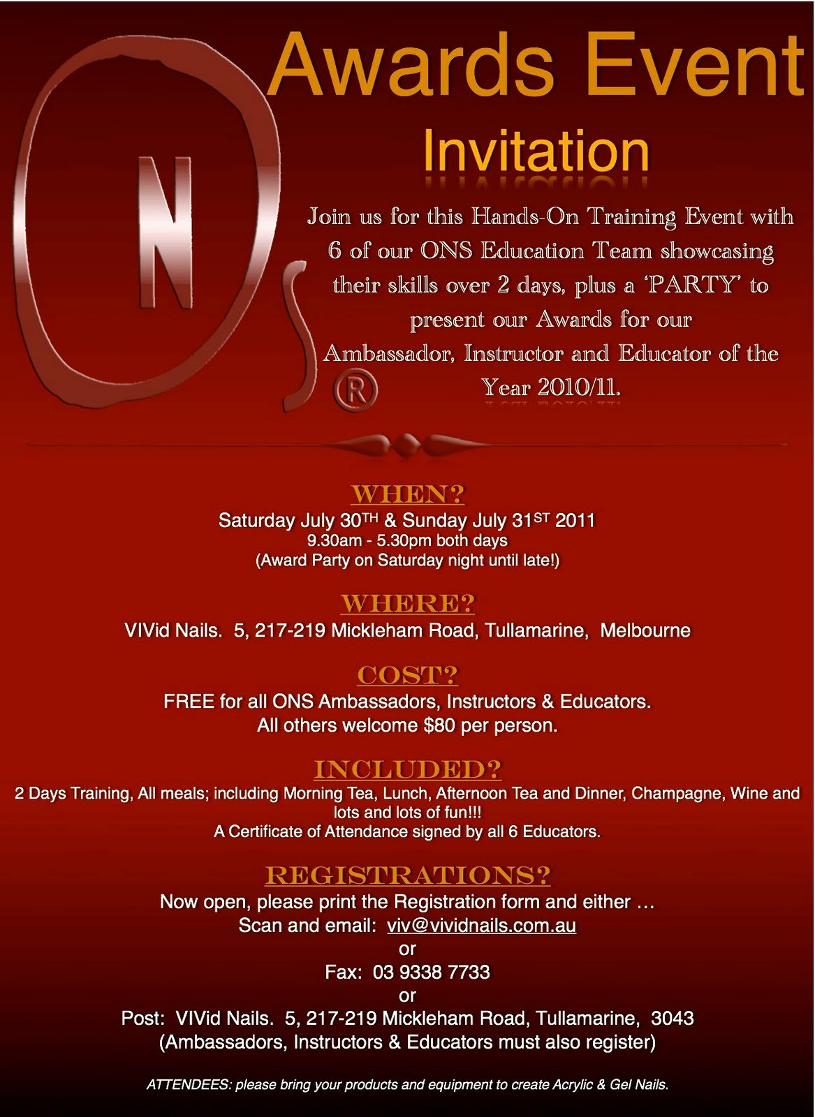 Event Invitations Business Awards Ceremony to Pin