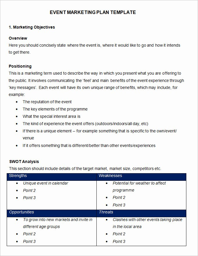 Event Marketing Plan Template 11 Free Word Documents