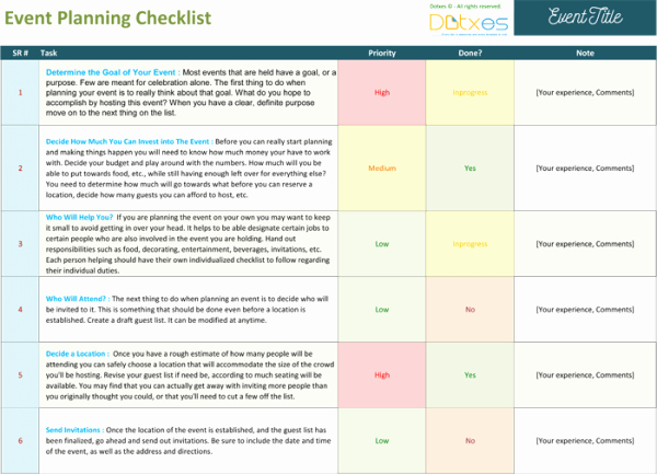 Event Planning Checklist to Keep Your event Track