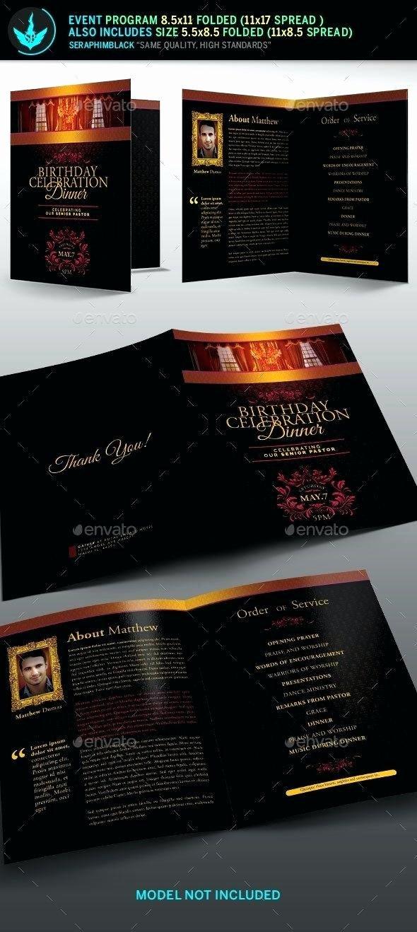 Event Program Booklet Template