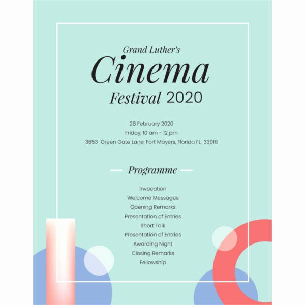 Event Program Template 37 Free Sample Example format