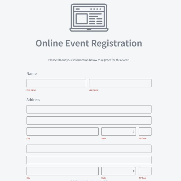 Event Registration form Builder