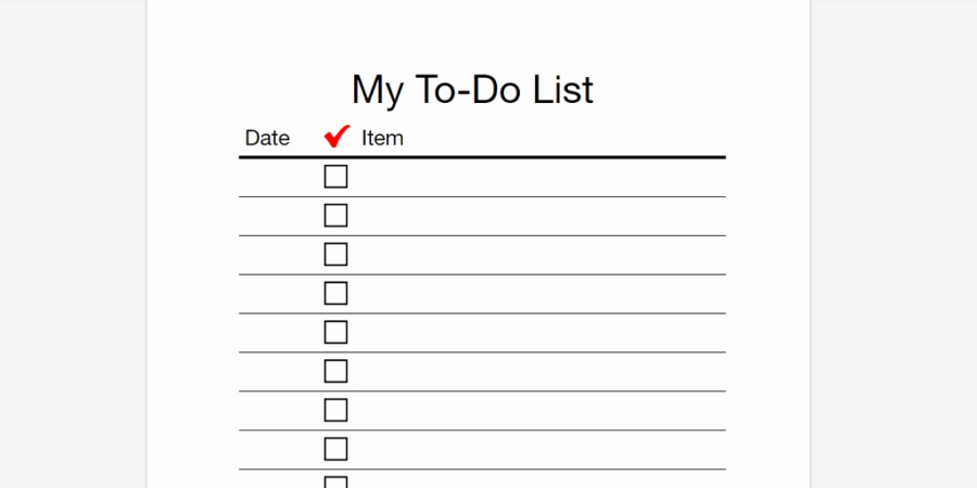 Every to Do List Template You'll Ever Need