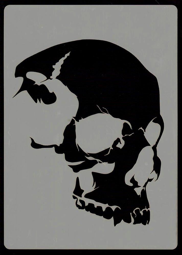 Everything Airbrush Stencils Skull Head Stencil 6