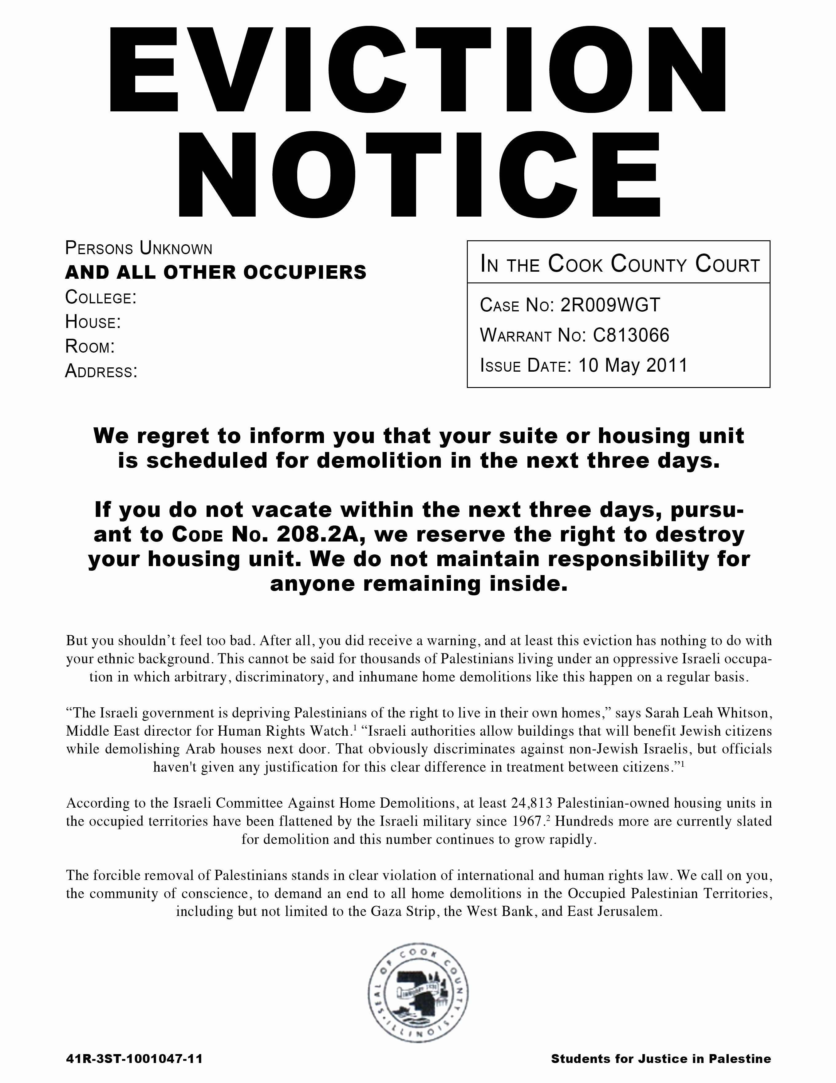 Eviction Notice Template Example Mughals